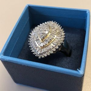 Jewelry - 8.80CTW 10k Gold Over Sterling Silver Ring